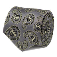 Batman Gray and Yellow Paisley Tie-Tie-Here Comes The Bling™