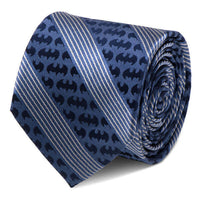 Batman Pinstripe Navy Tie-Tie-Here Comes The Bling™