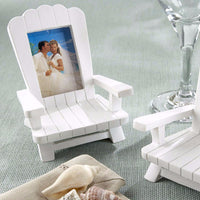 """Beach Memories"" Miniature Adirondack Chair Place Card/Photo Frame (Set of 4)-Place Card Holder-Here Comes The Bling™"