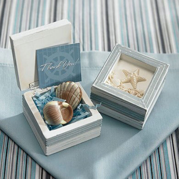 Beach Theme Wooden Boxes (Pack of 12)-Favors-Beach-Here Comes The Bling™