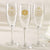 """Beach Tides"" Personalized Champagne Flutes (Set of 36)"