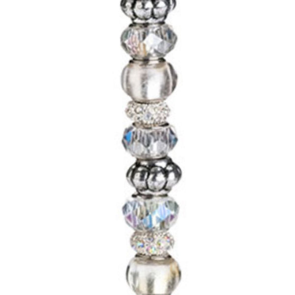 Beaded Glasses-Silver-Toasting Flutes-Here Comes The Bling™