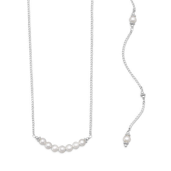 Beautiful Cultured Freshwater Pearl Back Drop Necklace-Back Necklace-Here Comes The Bling™