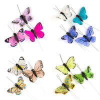 Beautiful Decorative Butterflies in Neutrals (Assorted Set of 25)-Decor-Accents-Here Comes The Bling™