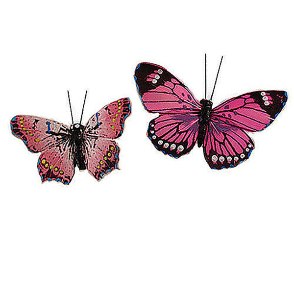 Beautiful Decorative Butterflies in Pinks (Assorted Set of 25)-Decor-Accents-Here Comes The Bling™