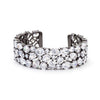 Bejeweled Cubic Zirconia Cuff Black Tone-Bracelets-Here Comes The Bling