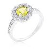 Bella Halo Birthstone Ring (Available in 12 Colors)-Rings-Here Comes The Bling™