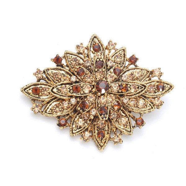 Best Selling Vintage Floral Bridal Brooch-Brooches-Here Comes The Bling™