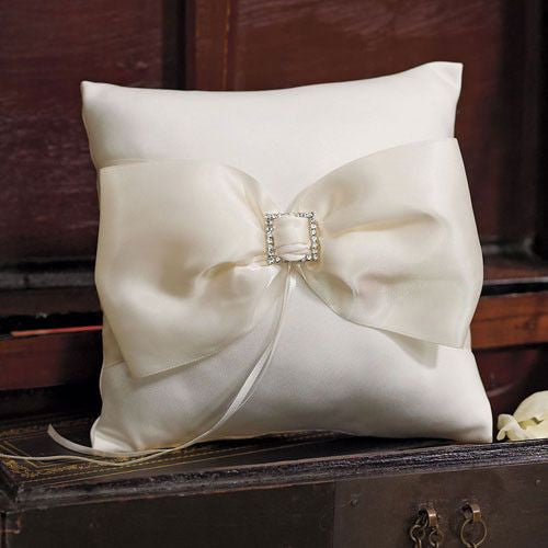 Beverly Clark Duchess Ring Pillow in Ivory-Ring Pillow-Here Comes The Bling™