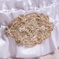 Beverly Clark Luxe Bridal Garter Set in White-Garters-Here Comes The Bling™