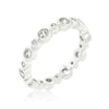 Bezel Linked Cubic Zirconia Eternity Band-Rings-Here Comes The Bling™