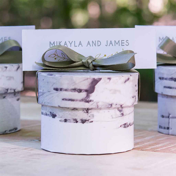 Birch Circular Favor Box Pack of 6-Favors-Boxes-Here Comes The Bling™