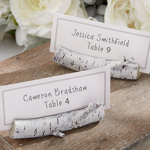 Birch Place Card Holder (set of 6)-Place Card Holder-Here Comes The Bling™