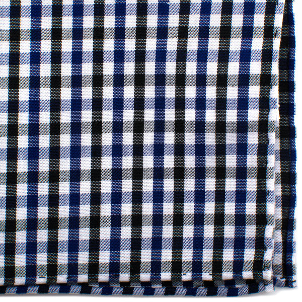 Black and Blue Gingham Cotton Pocket Square-Pocket Square-Here Comes The Bling™