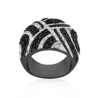 Black And White Cocktail Ring-Rings-Here Comes The Bling™