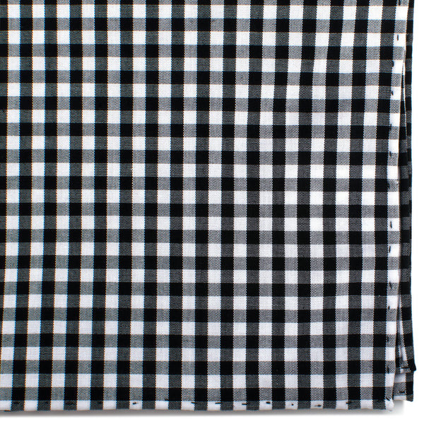 Black and White Gingham Cotton Pocket Square-Pocket Square-Here Comes The Bling™