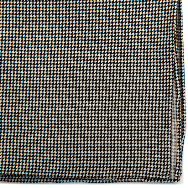 Black and White Houndstooth Silk Pocket Square-Pocket Square-Here Comes The Bling™