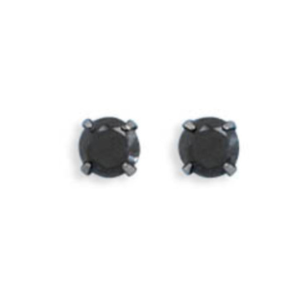 Black CZ Stud Earring-Girls-Jewelry-Here Comes The Bling™