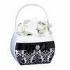 Black Damask Flower Basket-Flower Basket-Here Comes The Bling™