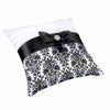 Black Damask Pillow-Ring Pillow-Here Comes The Bling™