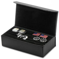 Black Multi Pair Cufflinks Travel Case-Mens-Cases-Here Comes The Bling™