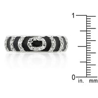 Black Ripple Stackable Ring-Rings-Here Comes The Bling™