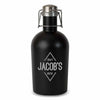 Black Stainless Steel Diamond Emblem Personalized Beer Growler-Growler-Here Comes The Bling™