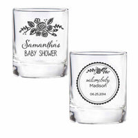 """Rustic Baby Shower Collection"" Personalized Shot Glass/Votive Holders (Set of 36)"