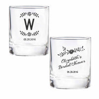 """Rustic Bridal Shower Collection"" Personalized Shot Glass/Votive Holders (Set of 36)"