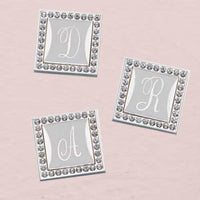 Bling Frame Monogramed Clip - For Invitations, Gifts and Favors-Embellishments-Here Comes The Bling™