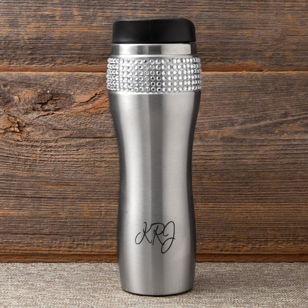 Bling Travel Mug Tumbler-Travel Mugs-Here Comes The Bling™