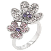 Blossom Fashion Flower Cocktail Ring-Rings-Here Comes The Bling™