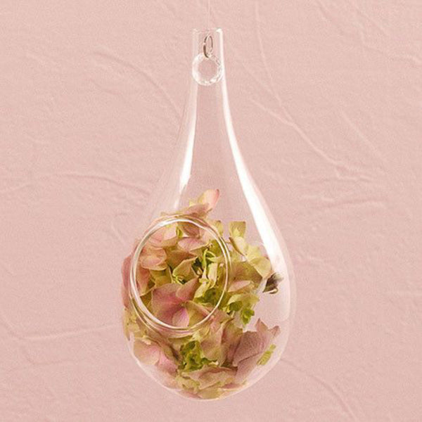Blown Glass Tear-Drop Vases in Large (Pack of 2)-Decor-Hanging-Here Comes The Bling™