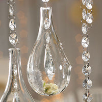 Blown Glass Tear-Drop Vases-Small (Pack of 4)-Decor-Hanging-Here Comes The Bling™
