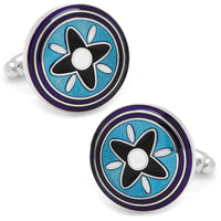 Blue and Purple Twilight Star Cufflinks-Cufflinks-Here Comes The Bling™
