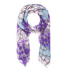 Blue Clemence Polka Dot Scarf-Scarf-Here Comes The Bling