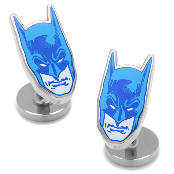 Blue Comics Batman Mask Cufflinks-Cufflinks-Here Comes The Bling™