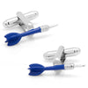 Blue Dart Cufflinks-Cufflinks-Here Comes The Bling‰̣ۡå¢