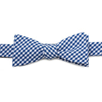 Blue Gingham Cotton Bow Tie-Bow Tie-Here Comes The Bling™