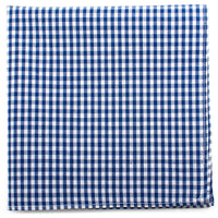 Blue Gingham Cotton Pocket Square-Pocket Square-Here Comes The Bling™