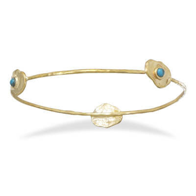 BLUE ISLE GOLD STACKABLE BANGLE BRACELET-Bracelets-Here Comes The Bling™