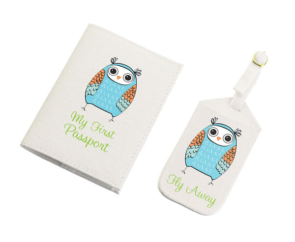 Blue Owl Tag & Passport-Passport Covers-Here Comes The Bling™