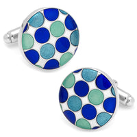 Blue Polka Dot Cufflinks-Cufflinks-Here Comes The Bling™