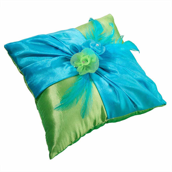 Blue/Green Ring Pillow-Ring Pillow-Here Comes The Bling™