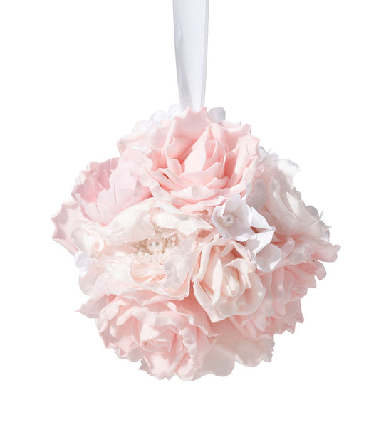 Blush Pink Flower Ball-Decor-Hanging-Here Comes The Bling™