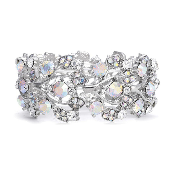 Bold AB Crystal Vine Stretch Bracelet-Bracelets-Here Comes The Bling™