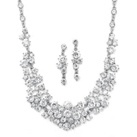 Bold Crystal Clusters Necklace and Earrings Set-Sets-Here Comes The Bling™