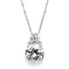 Bold CZ Bridal or Bridesmaid Necklace Pendant-Necklaces-Here Comes The Bling™