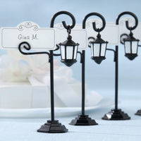 """Bourbon Street"" Streetlight Place Card Holder with Coordinating Place Cards (Set of 4)-Place Card Holder-Here Comes The Bling™"