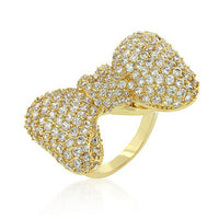 Bow Tie Cubic Zirconia Ring-Rings-Here Comes The Bling™
